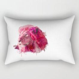 Rose Lion Rectangular Pillow