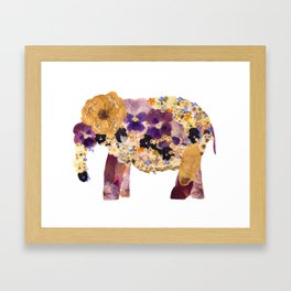 Floral Elephant Framed Art Print