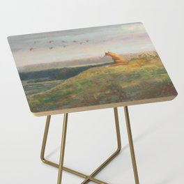 Red Fox Looks Out Over the Valley Side Table