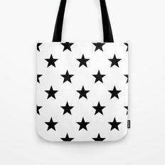 Stars B&W Tote Bag