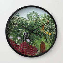 Vintage jungle art Wall Clock