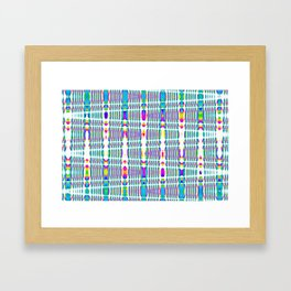 rhombus sky Framed Art Print