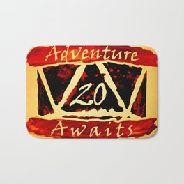 D20 Adventure Awaits Watercolor Way of Blood Bath Mat