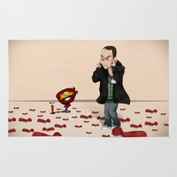 bazinga Area & Throw Rugs featuring Sheldon Cooper Bazinga by Mowis