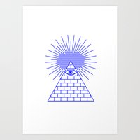 evil eye Art Prints featuring EVIL EYE by Anna Lindner