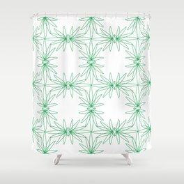 Funky Flower 01 Shower Curtain