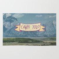 yolo Area & Throw Rugs featuring CARPE YOLO by Josh LaFayette