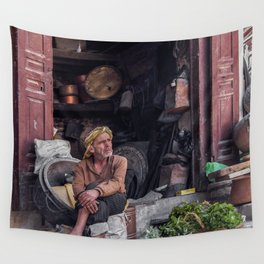 Moroccan market salesman Marrakesh Wall Tapestry