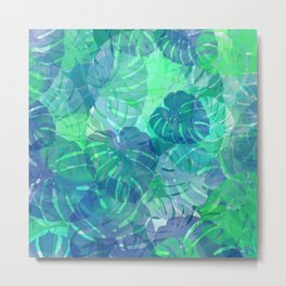 monstera leaves tropical 2 Metal Print