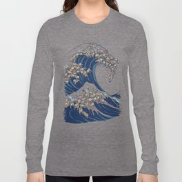 The Great Wave of Sloth Long Sleeve T-shirt