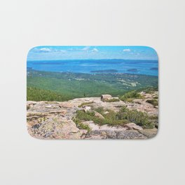 View of Bar Harbor, Maine from Cadillac Mountain (4) Bath Mat
