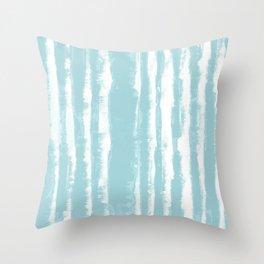 Shibori Stripe Seafoam Throw Pillow