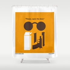 No239 My LEON minimal movie poster Shower Curtain
