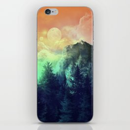 sunset forest 1 iPhone Skin