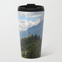 A glimpse through the forest Travel Mug