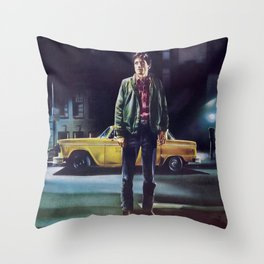 Taxi Driver, Vintage Poster, 1976 Throw Pillow