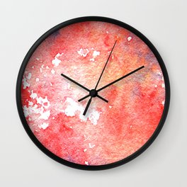Symphony in red minor I Wall Clock