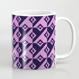 Diagonal squares in pink and purple colours Coffee Mug