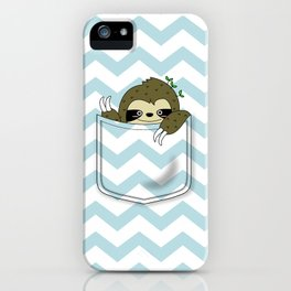 sloth in my pocket iPhone Case