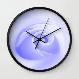 Periwinkle Blue Rose Wall Clock