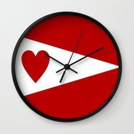 lanarkshire flag Wall Clock