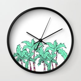 Tropical Palm Trees Wall Clock