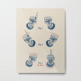 Finger Magic Trick Metal Print