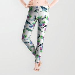whale pattern Leggings