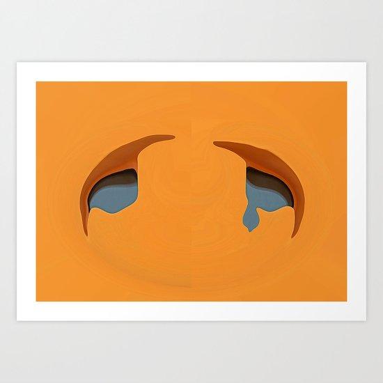 Tears of love Art Print