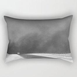 Car Driving in Dust Bowl - Texas 1936 Rectangular Pillow