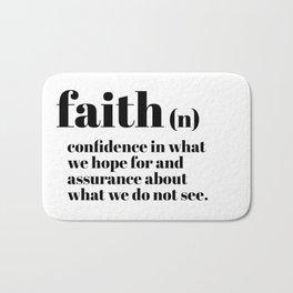 faith definition Bath Mat