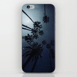 Palm Trees, Night Sky, Stars, Moon iPhone Skin