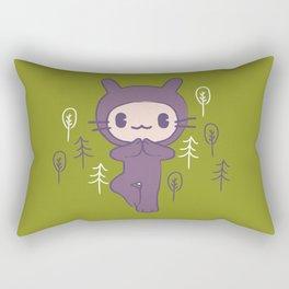Yoga Pose Tree Bunny Rectangular Pillow
