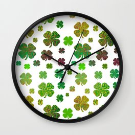 Lucky Charms - Four Leaf Clover Wall Clock