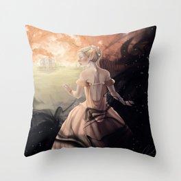 Fox in a Hen House Throw Pillow