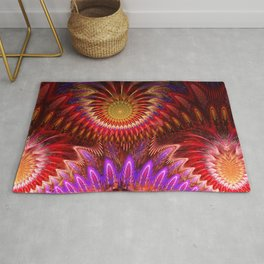 Devious ways, colourful pattern abstract Rug