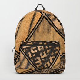 Bengal Tiger Fur with Ethnic Ornaments #1 Backpack