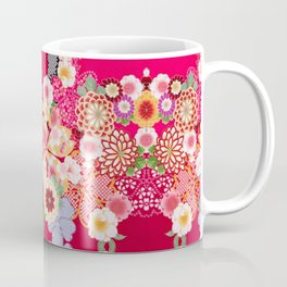 Red Floral Burst Coffee Mug