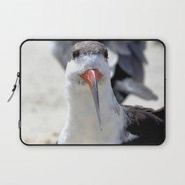 Watercolor Bird, Black Skimmer 11, Gulf Island Beach, Florida, Colorful Beach Comber Laptop Sleeve