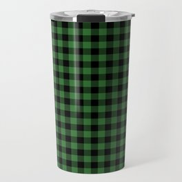 Classic Green Country Cottage Summer Buffalo Plaid Travel Mug