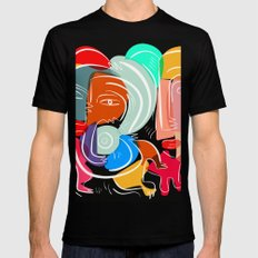 Love your family expressionist cubist street art LARGE Black Mens Fitted Tee
