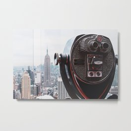 View of Empire State Building from Top of the Rock Metal Print