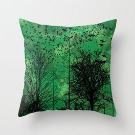 Turning Green Throw Pillow