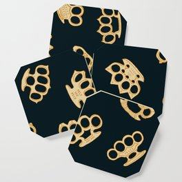 Brass Knuckles With Good Thoughts Coaster