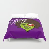 dylan Duvet Covers featuring ZomBob Dylan by Chelsea Herrick