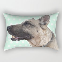 Lucy German shepherd Rectangular Pillow