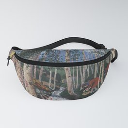Floxgloves and White Birch amid the Stream landscape by Nikolai Astrup Fanny Pack