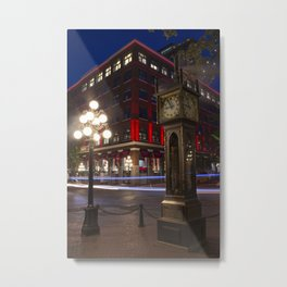 gastown steam clock Metal Print