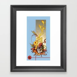 Katydid Driddle Framed Art Print