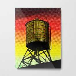 A New York Water Tower Metal Print